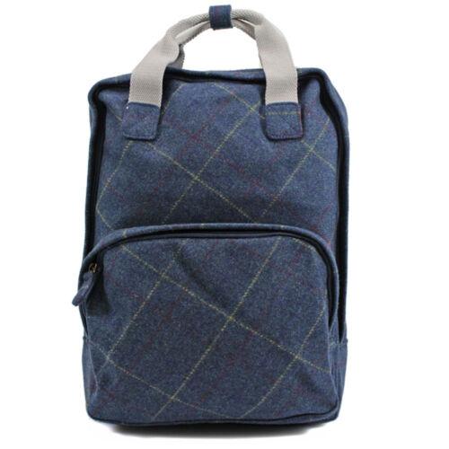 Ladies Tweed Backpack Rucksack School College Shoulder Laptop Bag Womens