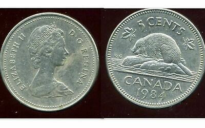Aus North & Central America Sunny Canada 5 Cents 1984