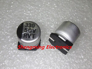 100pcs 220uF 50V SMD chip Aluminum Electrolytic Capacitor 10x10mm