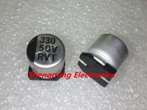 100pcs 220uF 50V SMD chip Aluminum Electrolytic Capacitor 10x10mm