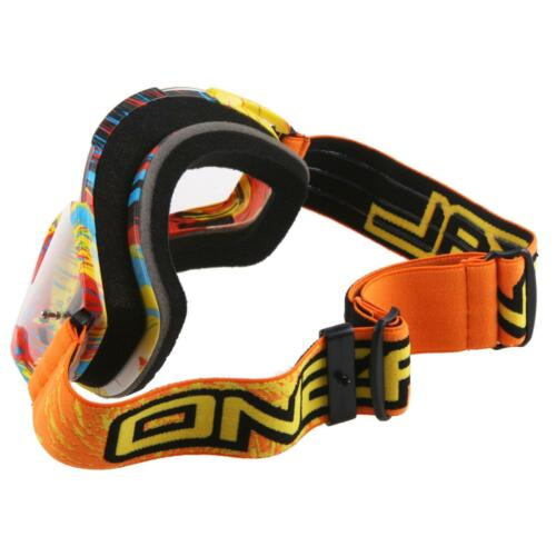 ONEAL Goggle Orange Occhiali MX MOTO CROSS MOUNTAIN BIKE DOWNHILL MOTO Graffiti