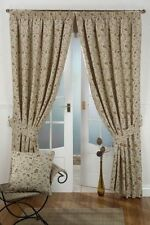 "NATURAL TAPESTRY DOOR CURTAIN 46"" X 90"" WITH TIEBACK"
