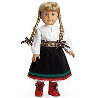 American Girl Kirsten's Holiday Winter Outfit Set Red Boots & Doll Not Incuded