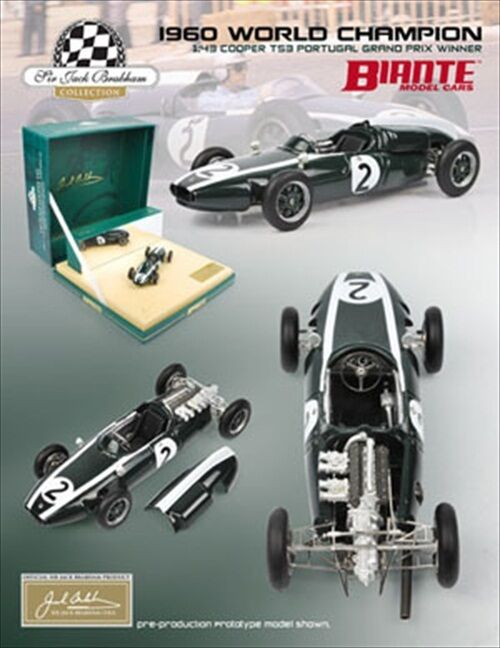 Cooper T53 Sir Jack Brabham 1960 Gp Winner 1 43 Modelo Diecast Car biante 430702e