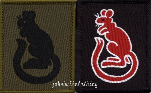 7th Armoured Brigade Flash TRF Military Cloth Patch in Olive Green or Red
