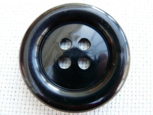 "2/"" 4  x 50mm LARGE BLACK CLOWN  BUTTONS SIZE 80"