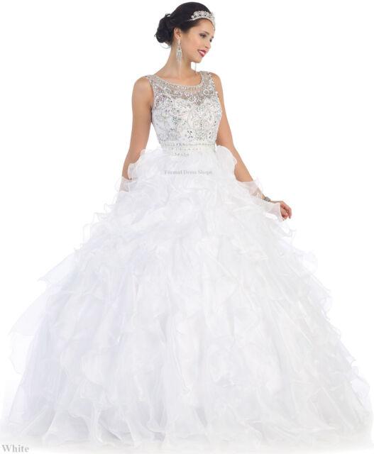 SALE !! QUINCEANERA MARDI GRAS BALL GOWN DEBUTANTE PRINCESS WEDDING BRIDAL  DRESS