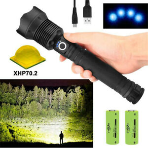 90000LM-Zoomable-USB-Powerful-Outdoor-LED-Flashlight-Torch-Light-Lamp-XHP70-2