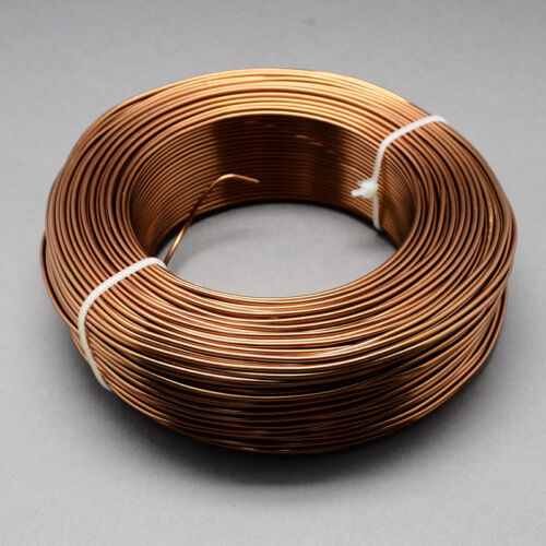 2mm Aluminium Craft Florist Wire Jewellery Making Saddle Brown 3m lengths