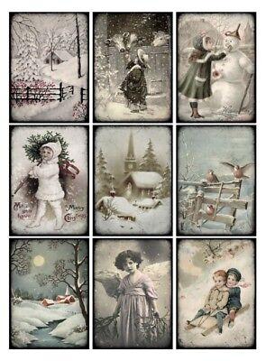 Vintage Bilder Weihnachten.Aufkleber Möbeltattoo Transparent Shabby Vintage Christmas Weihnachten 1132 Ebay
