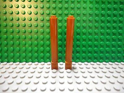 ☀LEGO 10x New 1x2x5 Black Bricks Column Pillar Wall Support Beams Castle Tower