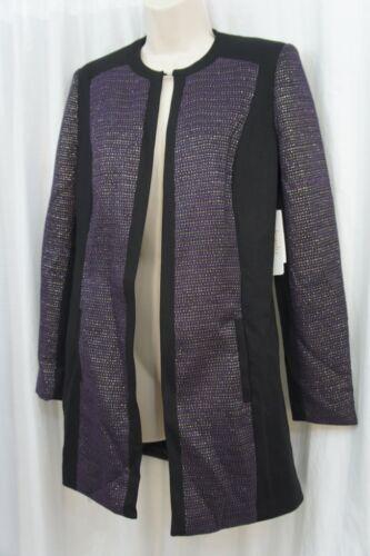 Career Strikkede Suit Acai Sort Topper Jakke 14 Tweed Ponte 799016735616 Blazer Tøjvask Sz Long v8gaww