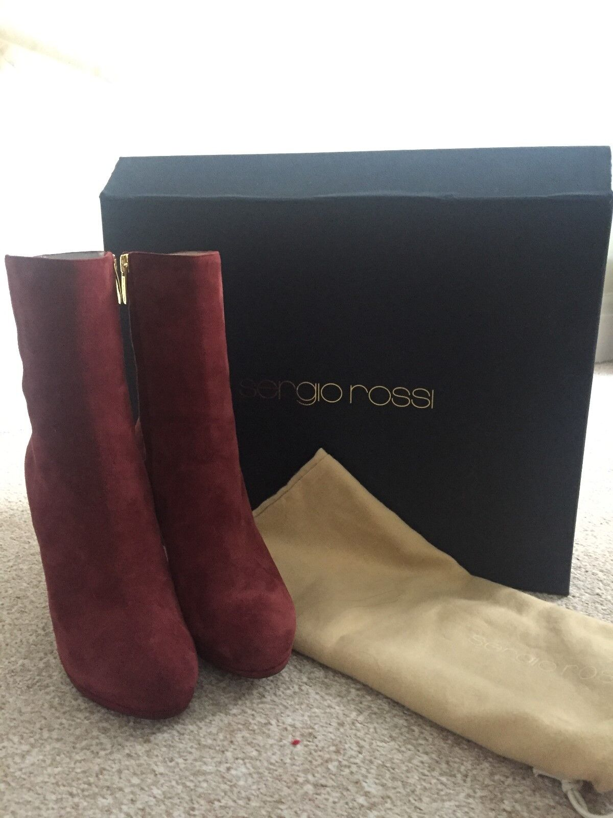 SERGIO ROSSI ANKLE BOOTS SIZE 36