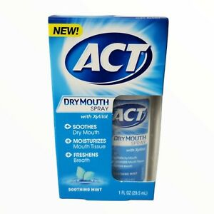 Act Dry Mouth Spray with Xylitol, Soothing Mint: 1 Fl. Oz.