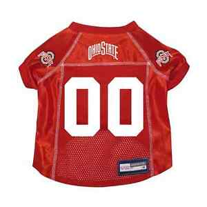 NEW-OHIO-STATE-BUCKEYES-DOG-PET-PREMIUM-JERSEY-w-NAME-TAG-ALL-SIZES-LICENSED