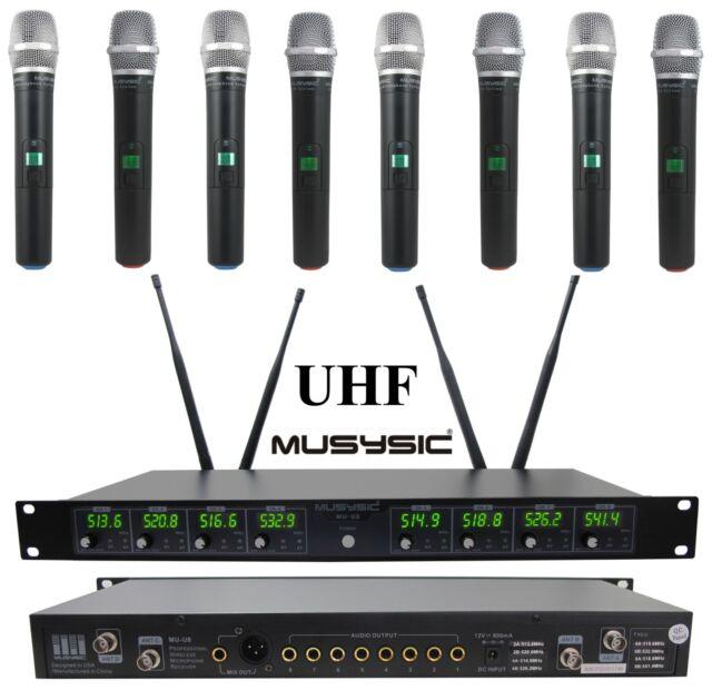 MUSYSIC Professional 8-channels UHF Handheld Wireless