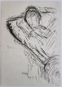 Niemeyer-Holstein-Otto-1896-1984-Luettenort-Bewegungsskizze-Baerbel-Zeichnung
