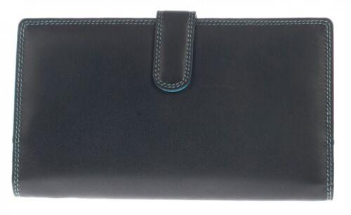 Graffiti//Golunski Large Leather Tab Bifold Purse RFID Protection St 7160 C multi