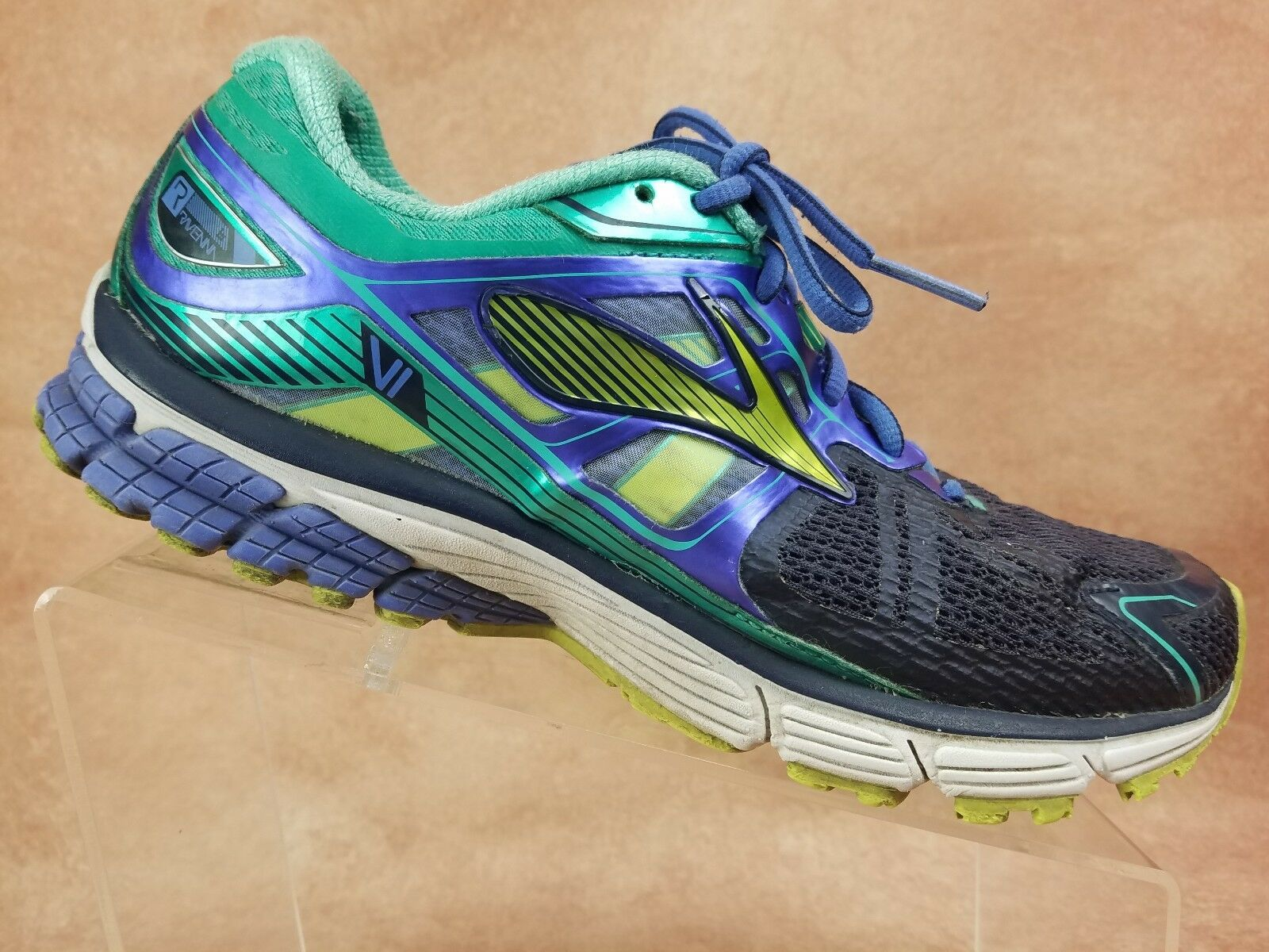 Brooks Ravenna 6 VI Womens Running shoes Size 9.5 bluee Green Athletic Sneaker