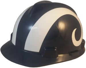 4b66e1c1a MSA V-Gard Cap Type LOS ANGELES Rams NFL Hard Hat