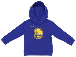 Nike NBA Kids Golden State Warriors Essential Pullover Hoodie, Blue