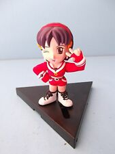 "Video Game SNK  Kaoru 3""in PVC Figure Cute Winking Girl on Sliding Base"