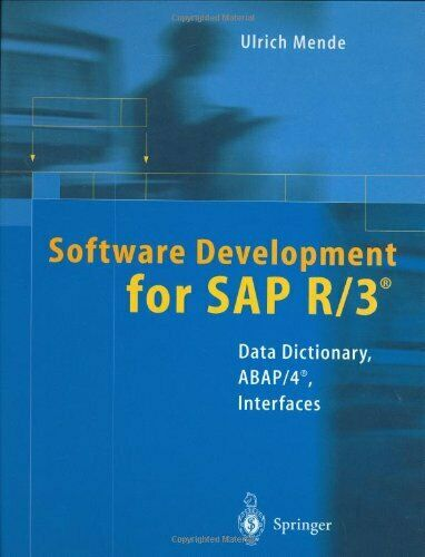 Software Development for Sap R/3: Data D... by Mende, Ulrich Mixed media product