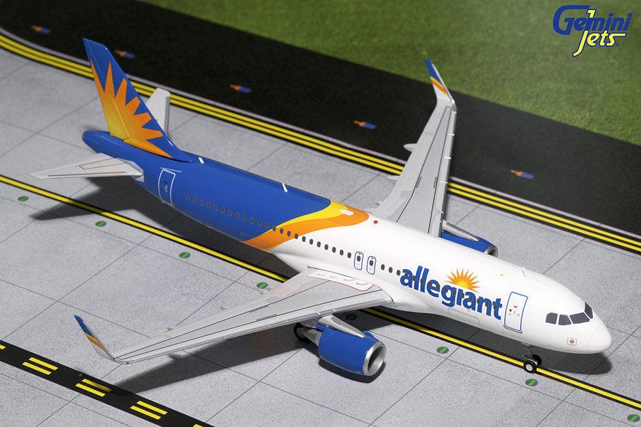 Gemini - jets allegiant luft airbus a320-200 (s) neuen stall  200 die-cast g2aay664