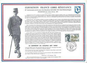 FEUILLET-PHILATELIQUE-SUR-L-039-EXPOSITION-FRANCE-LIBRE-RESISTANCE