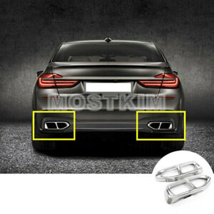 Rear Exhaust Muffler Tail Pipe Cover For Bmw 7 Series M Sport G11 G12 2016 2020 Ebay