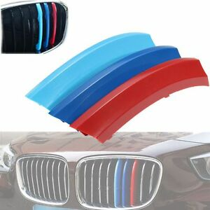 M-Sport-3-Color-Kidney-Grille-Trim-Cover-Stripe-Clip-For-BMW-X5-E70-2008-2013