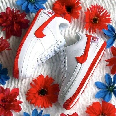 Nike Air Force 1 AF 1 Jester XX SE White Red Swoosh AO1220 106 Women's size 10 | eBay