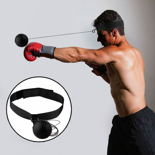 Boxing Punch Train Fight Ball Head Band Reflex Speed Exercise Release Stress