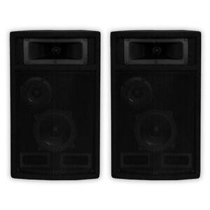 Acoustic-Audio-PA-500X-Passive-800W-3-Way-Speaker-Pair-DJ-PA-Studio-Speakers