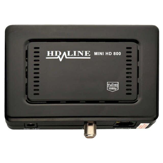 Mini Sat Receiver HD-LINE HD-800 Full HD Sat Receiver USB IPTV LAN Mediaplayer