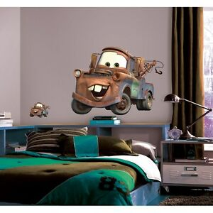 "MATER Disney Cars WALL STICKERS Mural Decals NEW 29"" Tow Truck Room Decor"