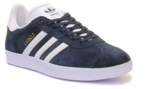 Details about Adidas Gazelle Junior Youth Black White Suede Leather Trainers UK Size 3 - 6.5