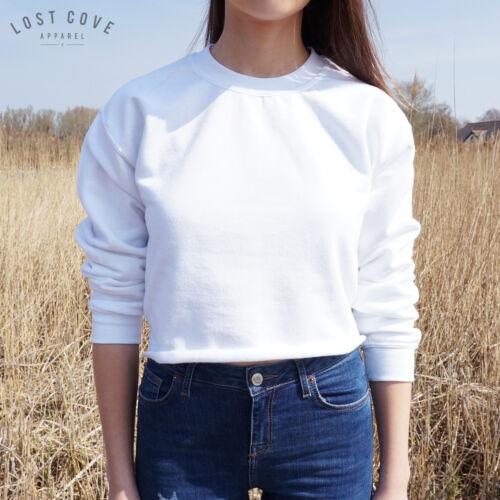 * Plain Crop Sweater Maglione Top Grunge Corta Di Base Grigio Nero Bianco Sport *