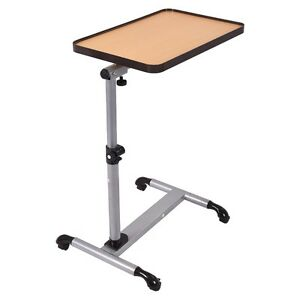 Adjustable hospital desks rolling overbed table laptop for Table 70 cm hauteur