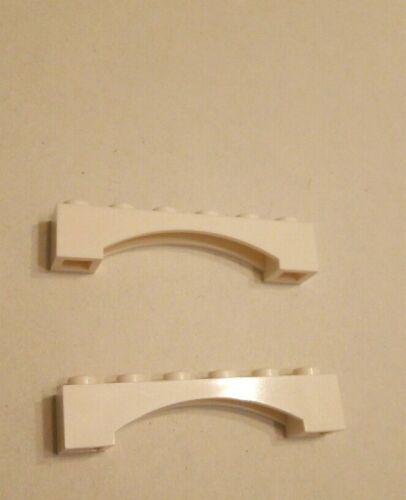Rundbogen 1x6x1 weiß Nr.92950 2x Lego Bogenstein