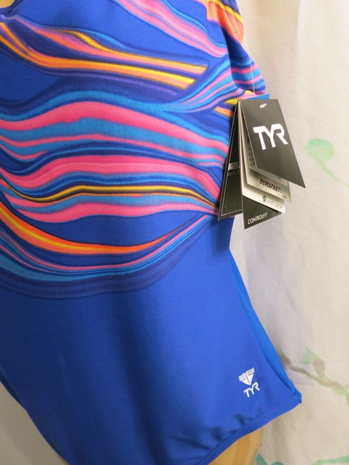 TYR Brand Misses 18 1 Pc bluee bluee bluee Fitness Swimsuit Fantasia Control Fit NWT 92482f