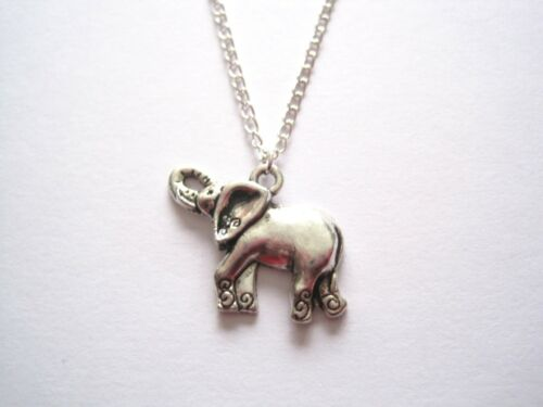 *PLAYFUL ELEPHANT SWIRL* Necklace SP 18 INCH chain GIFT BAG