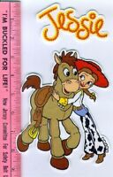 Jessie Hugging Bullseye Fabric Iron-on Appliques Toy Story Cowgirl Jesse No Sew