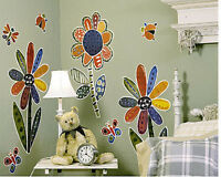 Large Flowers Butterfly Lady Bug Murals Wall Decor Art Stickers Decal Wall Mural