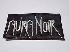 AURA NOIR LOGO BLACK THRASH METAL EMBROIDERED PATCH