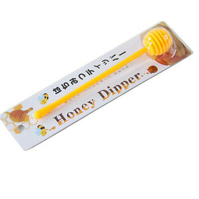 High Quality Useful Plastic Honey Dipper Stick for Honey Jar Long Handle US1 MO