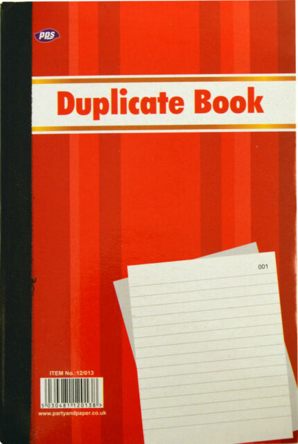 DUPLICATE ORDER BOOK NOTEPAD NUMBERED 100 PAGES CARBON PAPER BOOKS