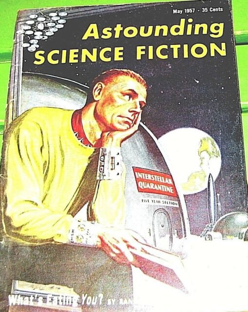 ASTOUNDING SCIENCE FICTION  (May 1957)- Silverberg-Budrys-asimov-Poul-