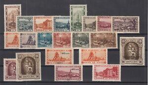 H3454-SAAR-1925-1934-MINT-SEMI-MODERN-LOT-CV-225