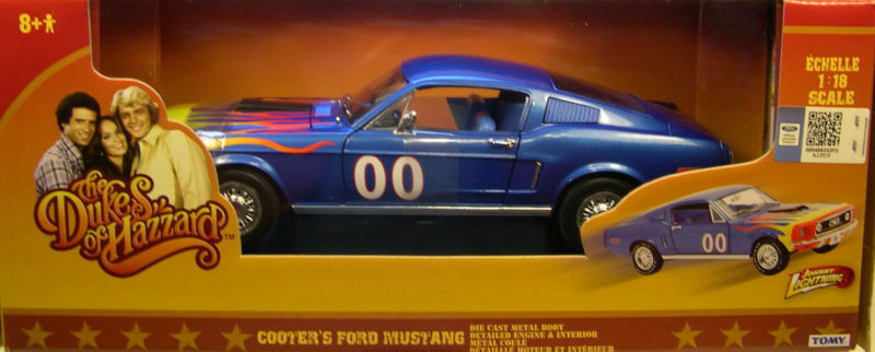 1 18 ERTL-Cooter 's  00 blu 1967 FORD MUSTANG Generale Lee  The Duke
